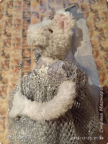 """Мягкая игрушка мышка в карнавальном костюме """"Крестная Фея"""".  фото 3"""