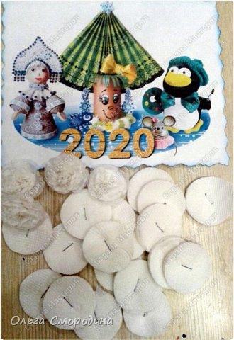 Здравствуйте, дорогие жители Страны Мастеров! Каждый год мы украшаем свою входную дверь. В этом году, в связи с конкурсом, я решила обыграть необычное число 2020 таким образом. В гости к нам и нашим соседям пришли Дед Мороз со Снегурочкой и принесли с собой воздушные шарики - цифры, из которых сложилось число 2020.  фото 6