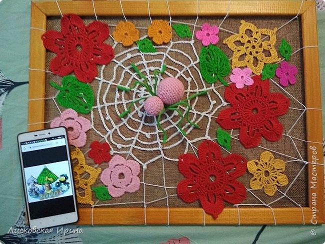 Из росы цветочной плетет паучок ковёр прочный, красочный и яркий.  фото 12