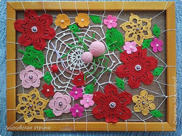 Из росы цветочной плетет паучок ковёр прочный, красочный и яркий.  фото 14