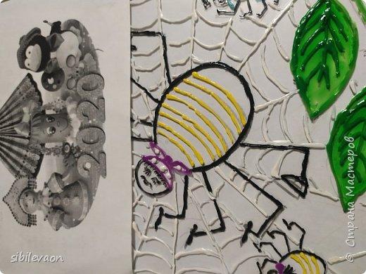 Здравствуйте, жители СТРАНЫ МАСТЕРОВ! Представляю ещё одну поделку на конкурс «Символ года». Узнав, что в наступившем 2020 году  по славянскому календарю правит Прядущий Мизгирь, т.е. паук,  Женя захотел сделать  поделку с ним.  Но какого сделать, ведь на Земле пауков около 42000 видов?! Понравился Аргиопа Брюнниха, или паук-оса, тем более он встречается в нашей Тамбовской области.  фото 5
