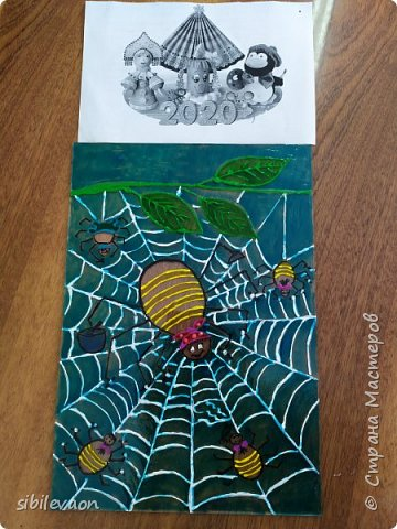 Здравствуйте, жители СТРАНЫ МАСТЕРОВ! Представляю ещё одну поделку на конкурс «Символ года». Узнав, что в наступившем 2020 году  по славянскому календарю правит Прядущий Мизгирь, т.е. паук,  Женя захотел сделать  поделку с ним.  Но какого сделать, ведь на Земле пауков около 42000 видов?! Понравился Аргиопа Брюнниха, или паук-оса, тем более он встречается в нашей Тамбовской области.  фото 6