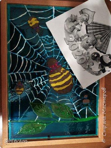 Здравствуйте, жители СТРАНЫ МАСТЕРОВ! Представляю ещё одну поделку на конкурс «Символ года». Узнав, что в наступившем 2020 году  по славянскому календарю правит Прядущий Мизгирь, т.е. паук,  Женя захотел сделать  поделку с ним.  Но какого сделать, ведь на Земле пауков около 42000 видов?! Понравился Аргиопа Брюнниха, или паук-оса, тем более он встречается в нашей Тамбовской области.  фото 7