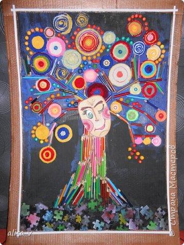Радужное дерево. Она счастливое потому, что его освещает радуга. И весь окружающий мир оно может видеть в разных цветах. Но эти цвета яркие и жизнерадостные. Оно никогда не грустит и всегда способно подарить окружающим только хорошее настроение и разноцветные положительные эмоции. фото 1