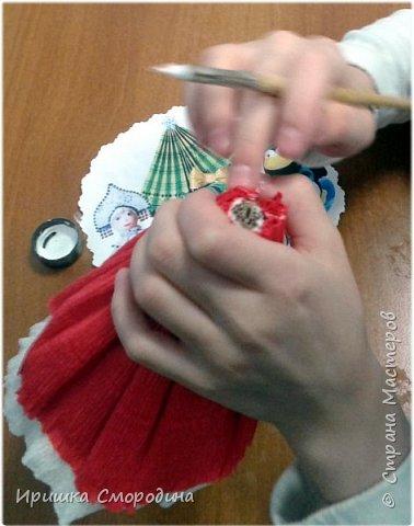 Здравствуйте, дорогие жители Страны Мастеров! Я (Ольга Смородина) перебралась в блог своей дочки Иришки, потому, что у себя уже разместила 5 работ.  Лена отправила на карнавал Дедушку Мороза.  фото 7
