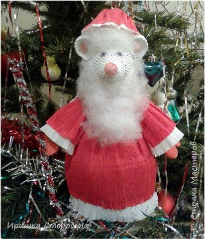 Здравствуйте, дорогие жители Страны Мастеров! Я (Ольга Смородина) перебралась в блог своей дочки Иришки, потому, что у себя уже разместила 5 работ.  Лена отправила на карнавал Дедушку Мороза.  фото 2