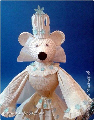 Здравствуйте, уважаемые жители Страны Мастеров! Сегодня на праздничный карнавал пришла и моя мышка - Снежная Королева. фото 8