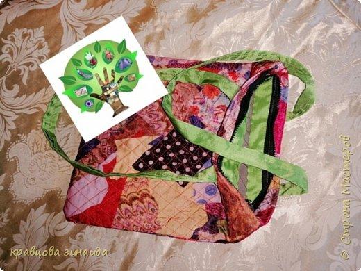 """Моя работа """" Летняя сумочка """", решила поучаствовать в конкурсе , так как большинство  поделок у меня из отходного материала, увлеклась лоскутным шитьем , сумочка выполнена в технике """" Пицца """" показываю процесс изготовления    фото 7"""