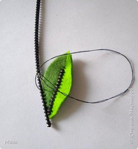 """Хочу представить брошь """"Настроение лета"""", в которой использовались обрезки фетра и старые использованные застежки - молнии. фото 7"""