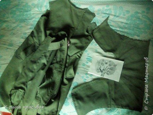 Зелёный сарафан из старой юбки фото 2