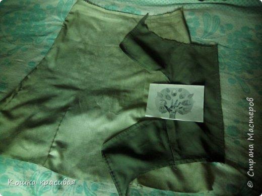 Зелёный сарафан из старой юбки фото 3