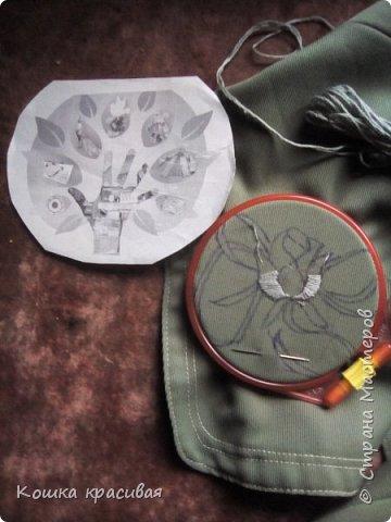 Зелёный сарафан из старой юбки фото 5