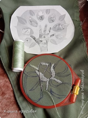 Зелёный сарафан из старой юбки фото 6