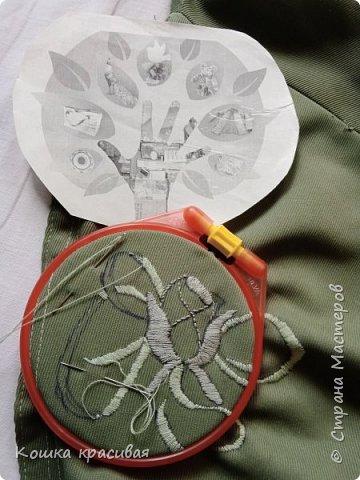 Зелёный сарафан из старой юбки фото 7
