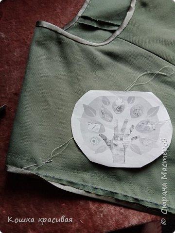 Зелёный сарафан из старой юбки фото 9