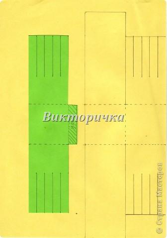 Вариант простого плетения бумажными полосками в два цвета. фото 8