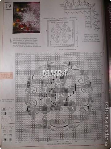 Схема скатерти.  http://stranamasterov.ru/node/14589#comment-352906  а вот здесь и сама скатерть .  фото 4