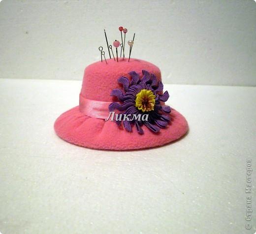 Шляпка-игольница фото 1
