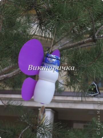 Черепашка.  Пластиковая коробочка, одноразовые ложки, самоклеющаяся цветная бумага, таблетка для кофемашины. фото 12