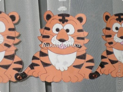 Гирлянда из тигрят в готовом виде. фото 3