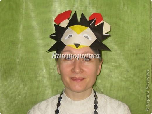 Маски Мастер-класс Новый год Праздник осени Оригами Маска Ёжик  Бумага фото 30