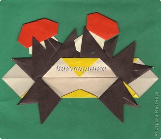 Маски Мастер-класс Новый год Праздник осени Оригами Маска Ёжик  Бумага фото 24