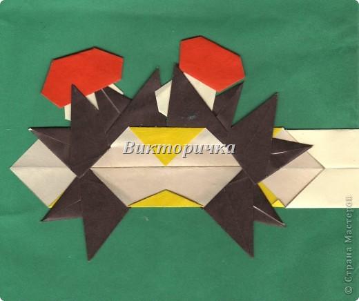 Маски Мастер-класс Новый год Праздник осени Оригами Маска Ёжик  Бумага фото 29