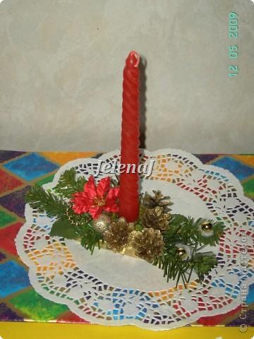 """свеча оформленная в технике """"шелковая лента"""" фото 6"""