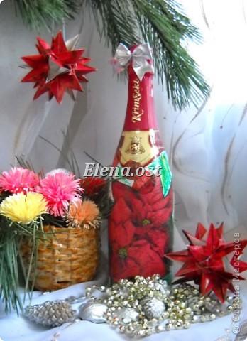 Для композиции использовала: плетеную елочку из газет, корзинку из газет для зимнего букета, бутылка с декупажем, кусудамы Нины Острун, природный материал. При копировании статьи, целиком или частично, пожалуйста, указывайте активную ссылку на источник! http://stranamasterov.ru/user/9321 http://stranamasterov.ru/node/40412 фото 3