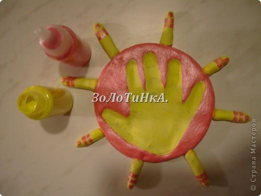 Мастер - класс. Как сделать оттиск детской ладошки. фото 9