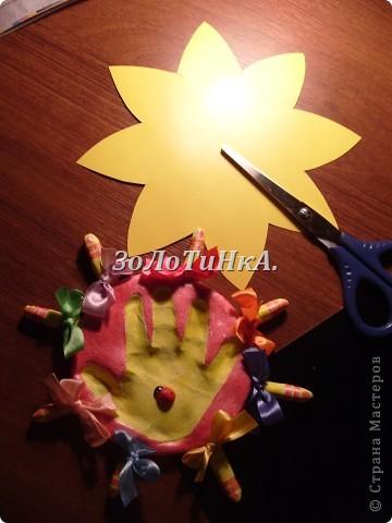 Мастер - класс. Как сделать оттиск детской ладошки. фото 10