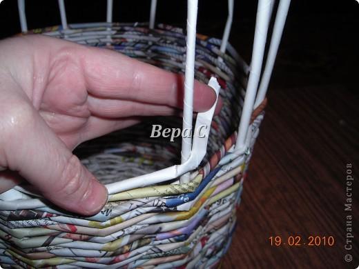 Мастер-класс Материалы и инструменты Плетение Мастер класс плетения из газеты для новичков Бумага газетная Трубочки бумажные фото 13