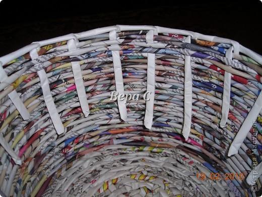 Мастер-класс Материалы и инструменты Плетение Мастер класс плетения из газеты для новичков Бумага газетная Трубочки бумажные фото 16