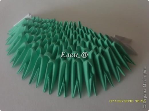 Поделка изделие Оригами китайское модульное Лягушка Бумага фото 5