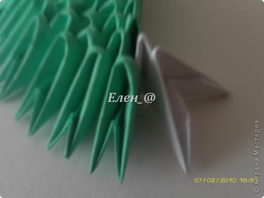 Поделка изделие Оригами китайское модульное Лягушка Бумага фото 6