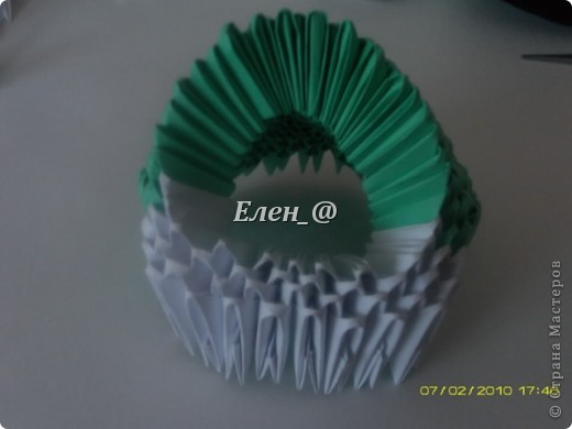 Поделка изделие Оригами китайское модульное Лягушка Бумага фото 11