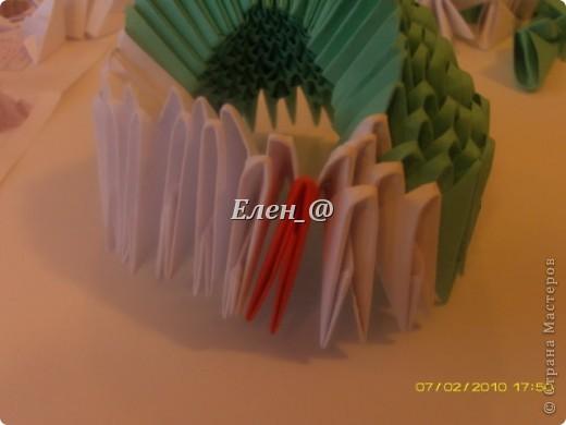 Поделка изделие Оригами китайское модульное Лягушка Бумага фото 10