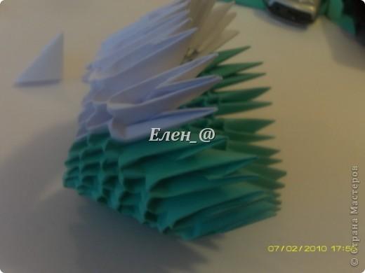 Поделка изделие Оригами китайское модульное Лягушка Бумага фото 12