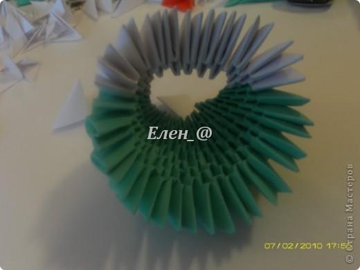 Поделка изделие Оригами китайское модульное Лягушка Бумага фото 13