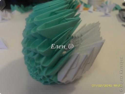 Поделка изделие Оригами китайское модульное Лягушка Бумага фото 14