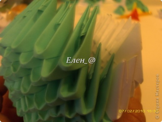 Поделка изделие Оригами китайское модульное Лягушка Бумага фото 15