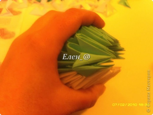 Поделка изделие Оригами китайское модульное Лягушка Бумага фото 16