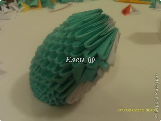 Поделка изделие Оригами китайское модульное Лягушка Бумага фото 17