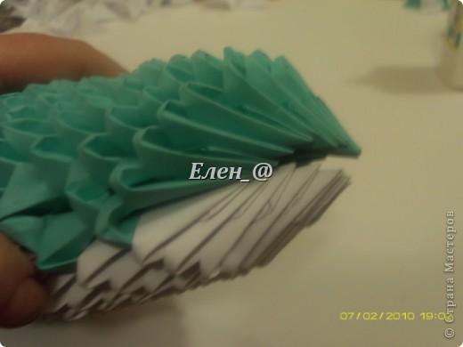 Поделка изделие Оригами китайское модульное Лягушка Бумага фото 19