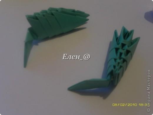 Поделка изделие Оригами китайское модульное Лягушка Бумага фото 22