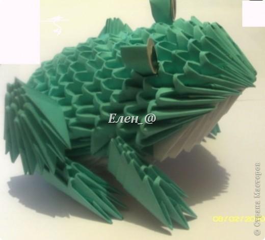 Поделка изделие Оригами китайское модульное Лягушка Бумага фото 1