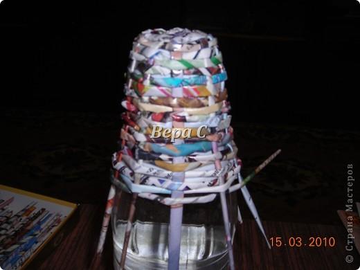Вот решила сделать МК по плетению колокольчиков,которые просили. Первые свои колокольчики я плела  просто на руках,смотря на фото  у Евгеши. Но так  никак не покажешь,долго искала форму,на что можно плести и нашла. фото 7