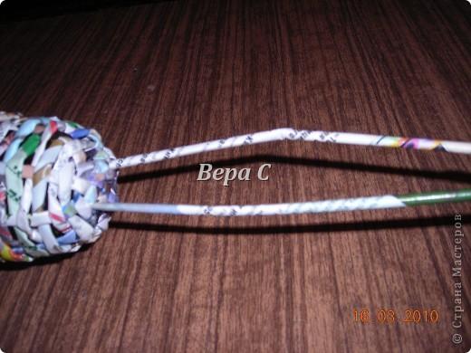 Вот решила сделать МК по плетению колокольчиков,которые просили. Первые свои колокольчики я плела  просто на руках,смотря на фото  у Евгеши. Но так  никак не покажешь,долго искала форму,на что можно плести и нашла. фото 12