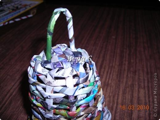 Вот решила сделать МК по плетению колокольчиков,которые просили. Первые свои колокольчики я плела  просто на руках,смотря на фото  у Евгеши. Но так  никак не покажешь,долго искала форму,на что можно плести и нашла. фото 13