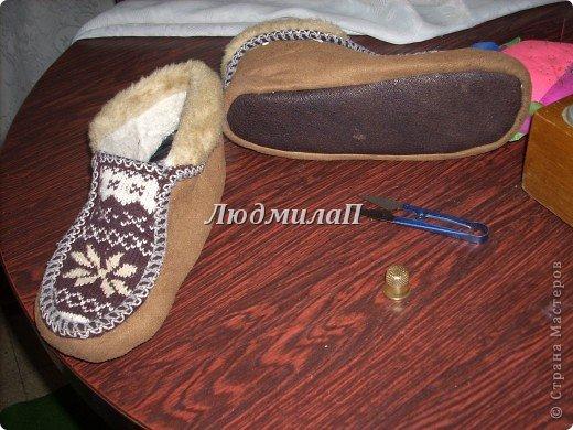 Обувь теплая своими руками